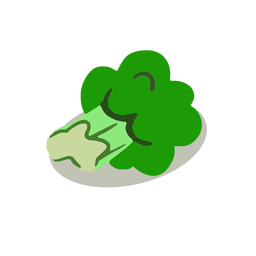 Green broccoli isometric