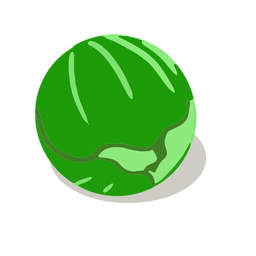 Green cabbage isometric