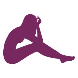Half laying woman silhouette