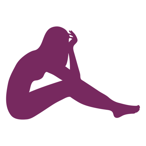Half laying woman silhouette Transparent PNG