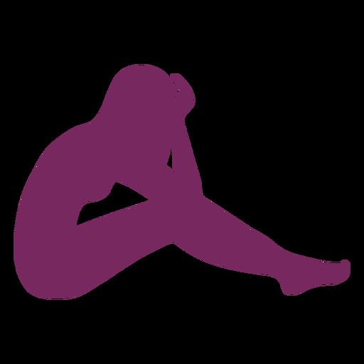Media silueta de mujer tendida Transparent PNG