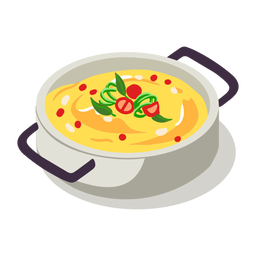 Healthy polenta pot isometric