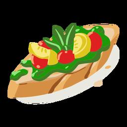 Gesunde Gemüsebruschetta isometrisch