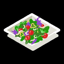 Ensalada de vegetales saludables isométrica