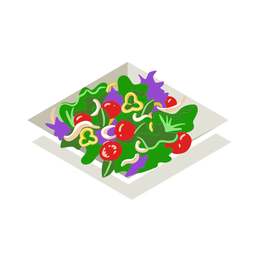 Salada de legumes saudável isométrica