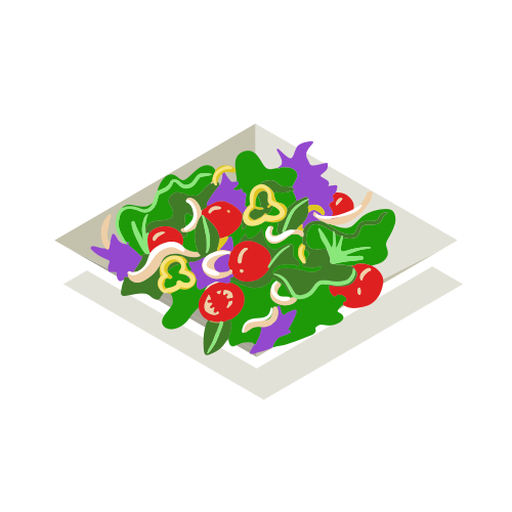 Healthy vegetable salad isometric Transparent PNG