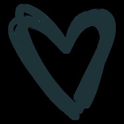 Corazón puntiagudo lindo trazo