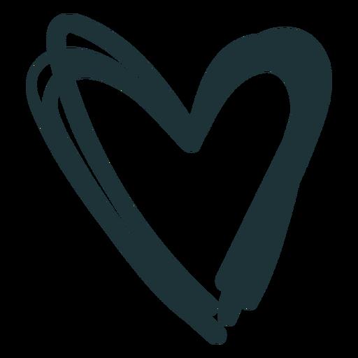 Corazón puntiagudo lindo trazo Transparent PNG
