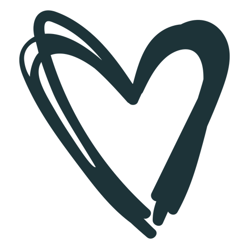 Heart pointy cute stroke Transparent PNG
