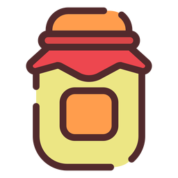 Honey jar icon stroke