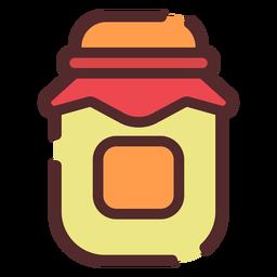 Trazo de icono de tarro de miel