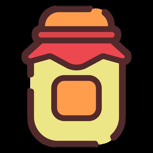 Honey jar icon stroke Transparent PNG