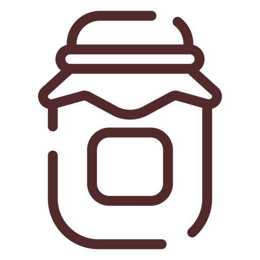 Honey jar stroke Transparent PNG