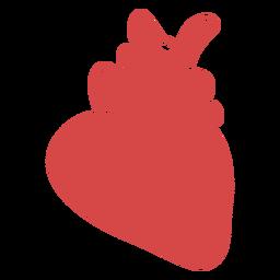 Corazón humano silueta roja