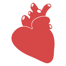 Human heart red silhouette