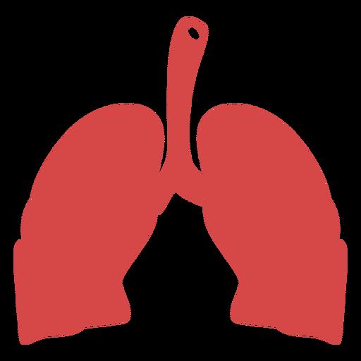 Silhueta de pulmões humanos vermelho Transparent PNG
