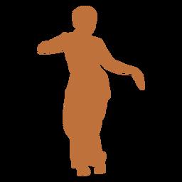 Bailarina india silueta femenina
