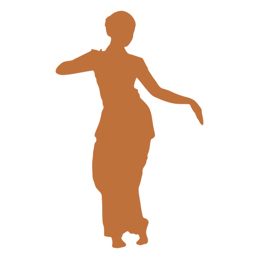 Bailarina india silueta hembra