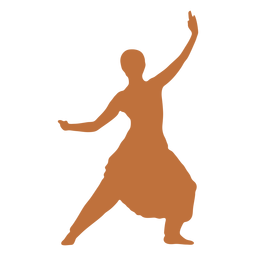 Bailarina india silueta masculina