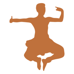Silhueta de dançarino masculino indiano