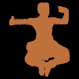 Silueta de bailarín indio