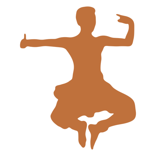 Indian male dancer silhouette Transparent PNG