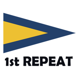 Bandeira de sinal marítima internacional 1 repetição plana