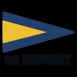 Indicador de señal marítima internacional 1 repetición plana