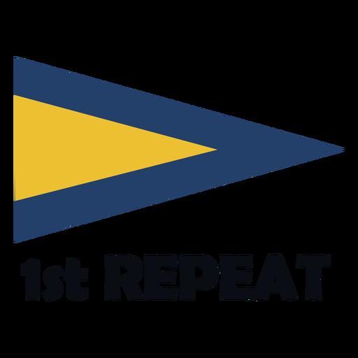 International maritime signal flag 1 repeat flat