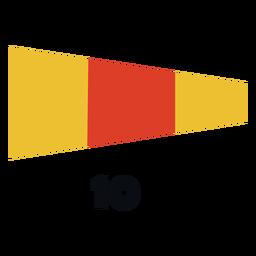 International maritime signal flag 10 flat