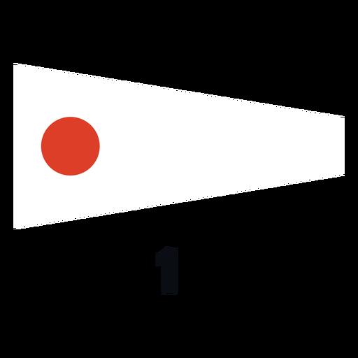 International maritime signal flag 1 flat
