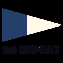 Bandeira de sinal marítima internacional 2 repetir plana