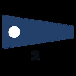 Bandeira de sinal marítima internacional 2 plana