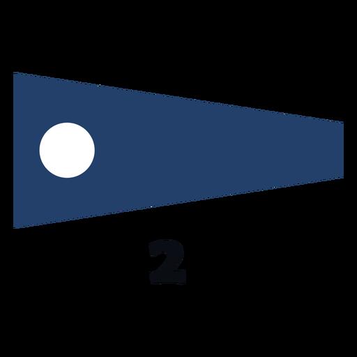 International maritime signal flag 2 flat