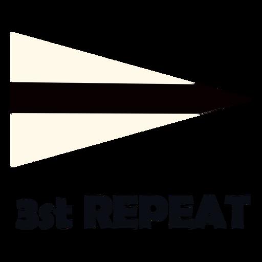 International maritime signal flag 3 repeat flat