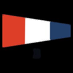 International maritime signal flag 3 flat