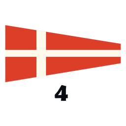 International maritime signal flag 4 flat