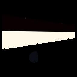 Bandera de señal marítima internacional 6 plana