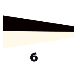 International maritime signal flag 6 flat