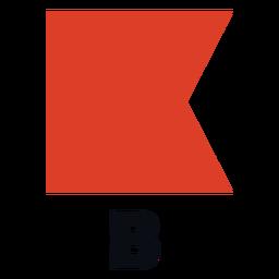 Bandeira de sinal marítima internacional b plana