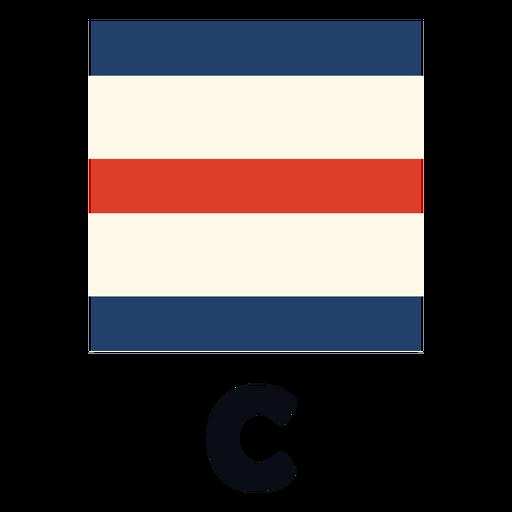 International maritime signal flag c flat