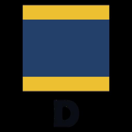 International maritime signal flag d flat