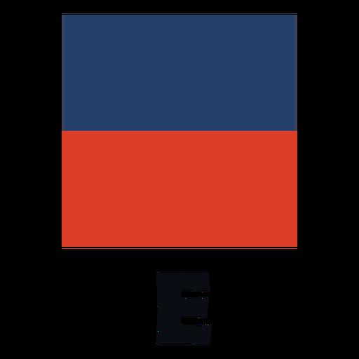 International maritime signal flag e flat