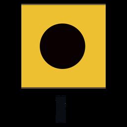 Bandeira de sinal marítima internacional eu plana