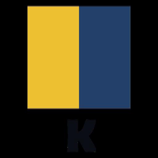 International maritime signal flag k flat
