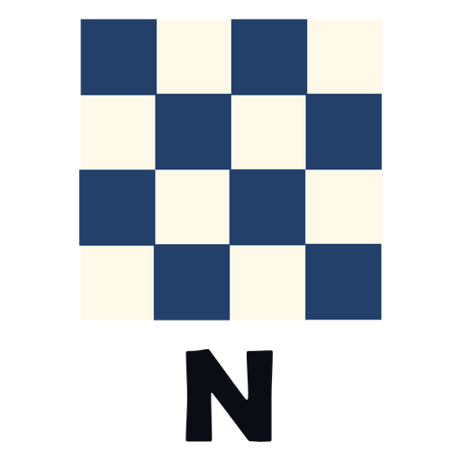 International maritime signal flag n flat
