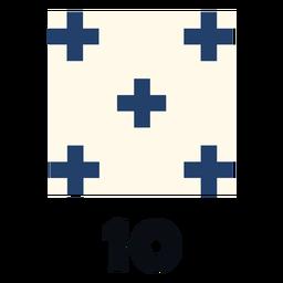 International maritime signal flag nato 10 flat