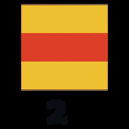 Bandeira de sinal marítima internacional nato 2 plana