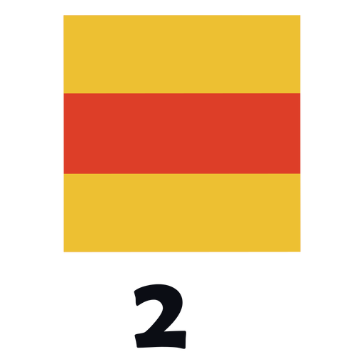 International maritime signal flag nato 2 flat