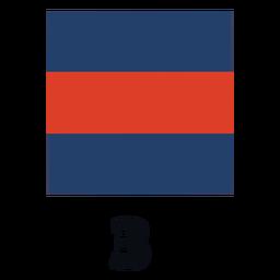 International maritime signal flag nato 3 flat